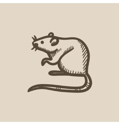 Mouse sketch icon vector
