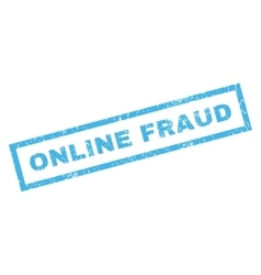Online fraud rubber stamp vector