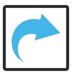 Redo framed icon vector