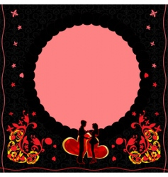 romantic card with ornate flow vector image vector image