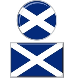 Scottish round and square icon flag vector