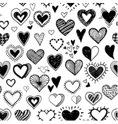 seamless background with black doodle sketch vector image
