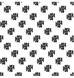 Seamless maya pattern black and white ethnic vector
