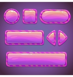 Set of pink funny buttons vector