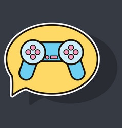 sticker icon of social media e-mail game joystick vector image