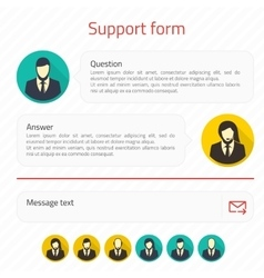 support form vector image