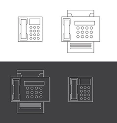 Telephone and fax icons vector