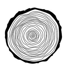 Tree rings vector image
