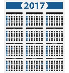 Usa calendar 2017 - with official holidays vector