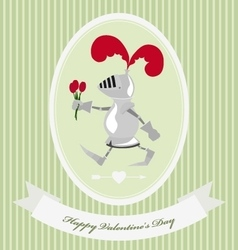 Vintage Valentine Day greeting card for gift vector image vector image