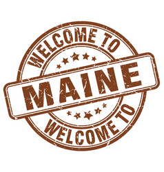 welcome to maine vector image vector image