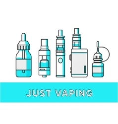 Vaping icons collection vector image