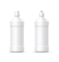 White blank plastic bottle for dishwashing vector