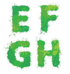 e f g h handdrawn english alphabet - letters vector image