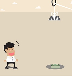 Businessman money and timer trap vector