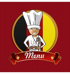 Food from germany menu poster vector