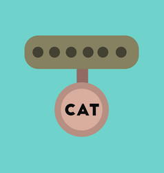flat icon on background cat collar vector image
