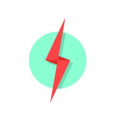 Red lightning icon like flash logo vector