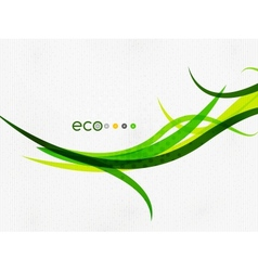 Green eco rainbow on textile texture vector