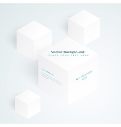 3d white cubes vector image vector image