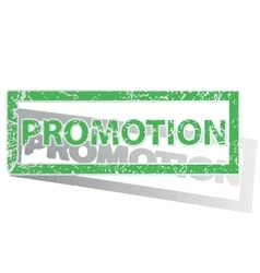 Green outlined promotion stamp vector