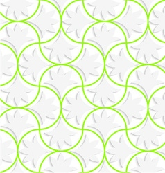 3d pin will grid with solid floral leaves vector