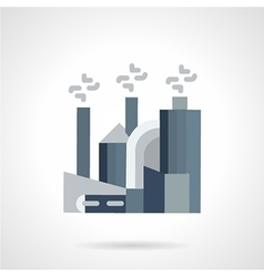 Manufacturing plants flat icon vector