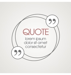 Citation text box frame for decoration quote and vector