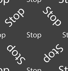 Traffic stop sign icon caution symbol seamless vector