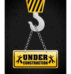 Under construction barrier design vector