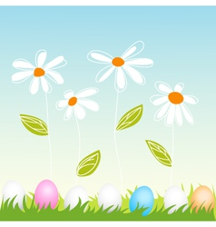 floral easter greeting card vector image