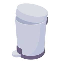 Pedal dust bin icon cartoon style vector