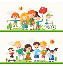 Children hobbies and activities - flat design vector