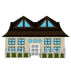 Colorful house front view graphic vector