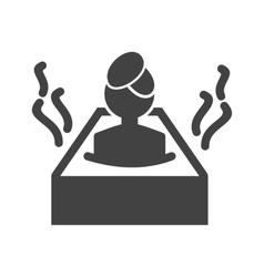 Hot water bath vector
