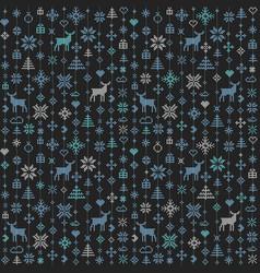 Abstract seamless pattern winter scandinavian vector