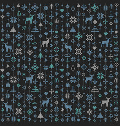 abstract seamless pattern winter scandinavian vector image