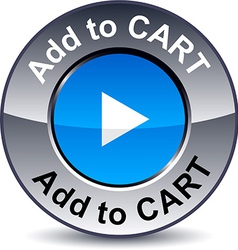 Add to cart round button vector