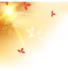 blurred autumn orange abstract background vector image vector image