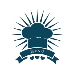 Chef cap menu logo vector