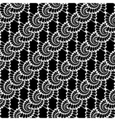 Design seamless monochrome decorative lacy pattern vector