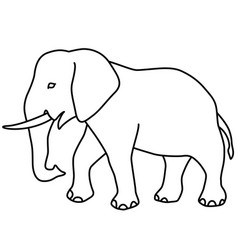 elephant contour icon vector image vector image