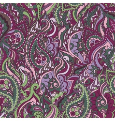 Floral paisley colorful ornate seamless pattern vector