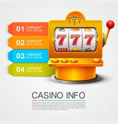 golden info list slot machine wins the jackpot vector image vector image
