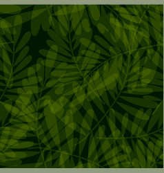 Green tropical seamless pattern vector