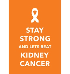 kidney cancer poster vector image