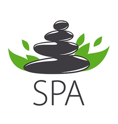 logo stones and leaves for Spa vector image vector image