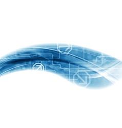Modern technology wave background vector image vector image