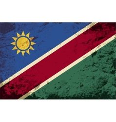 Namibian flag grunge background vector