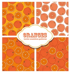 Oranges colored doodle seamless pattern vector
